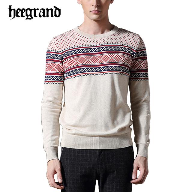 Hee grand 2017 nova primavera homem de impressão de algodão camisola dos homens o-pescoço pulôver dos homens suéteres casuais mzl752