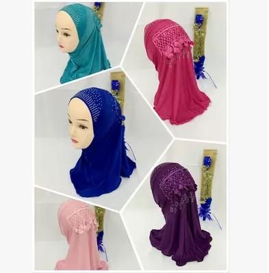 viscose Shawl Wrap islamic kids Muslim Hijab for girls size:0T-8T