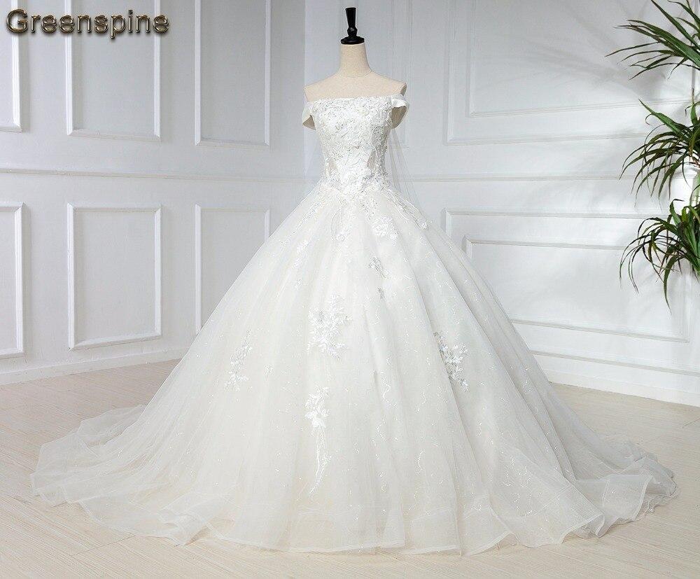 Greenspine Princess Wedding Gown Off The Shoulder Hochzeit