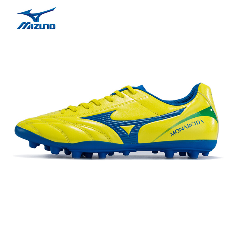 MIZUNO Men MONARCIDA 2 FS AG Soccer Shoes Wearable Cushion Sports Shoes Comfortable Sneakers P1GA172845 YXZ062 mizuno men s sports beathable cushioning soccer shoes monarcida fs as light sport shoes sneakers p1gd152301 yxz003