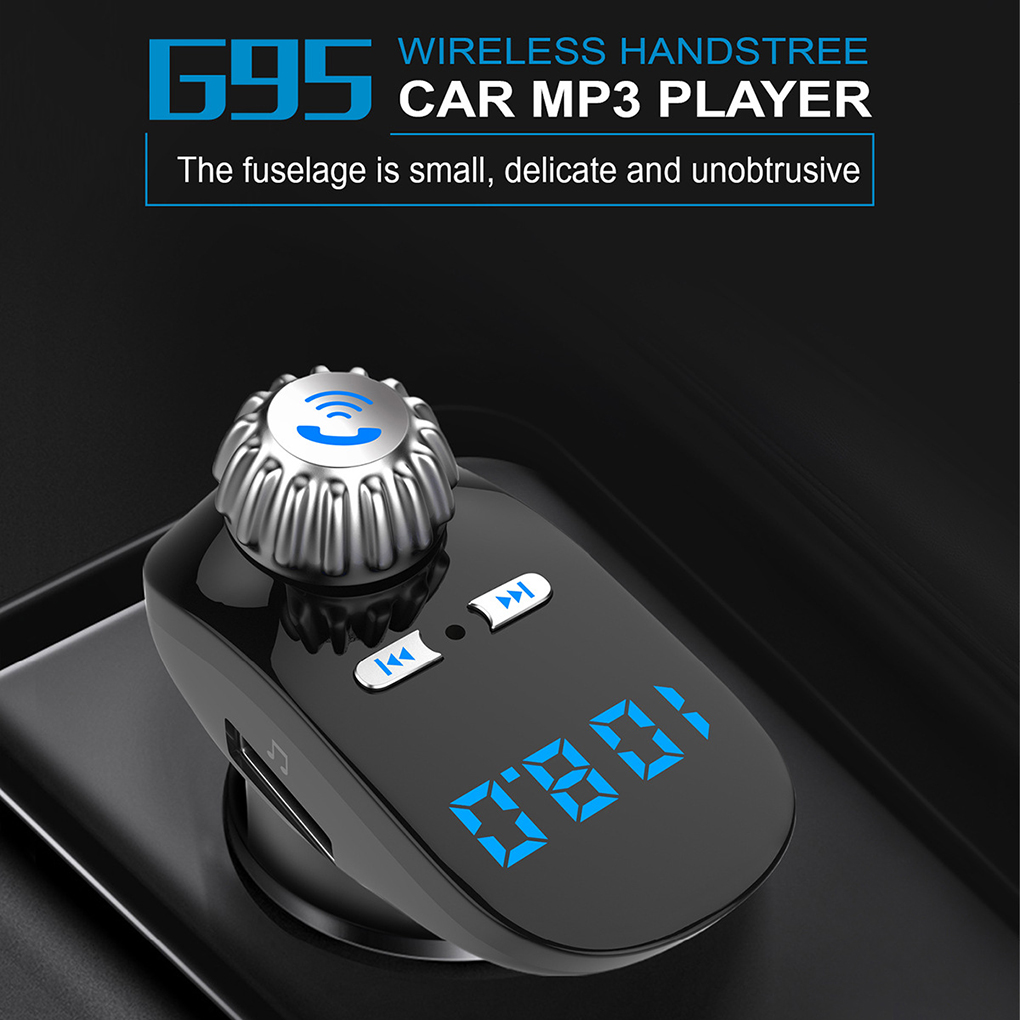 Car FM Transmitter Bluetooth Receiver Handsfree Wireless Radio Adapter USB Charger MP3 Music Player Voltage Detection