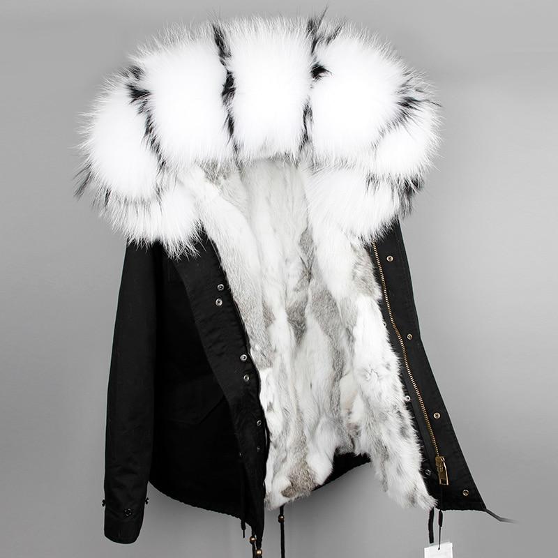 OFTBUY 2019 parka winter jacket women parka real fur coat big natural raccoon fur collar hooded