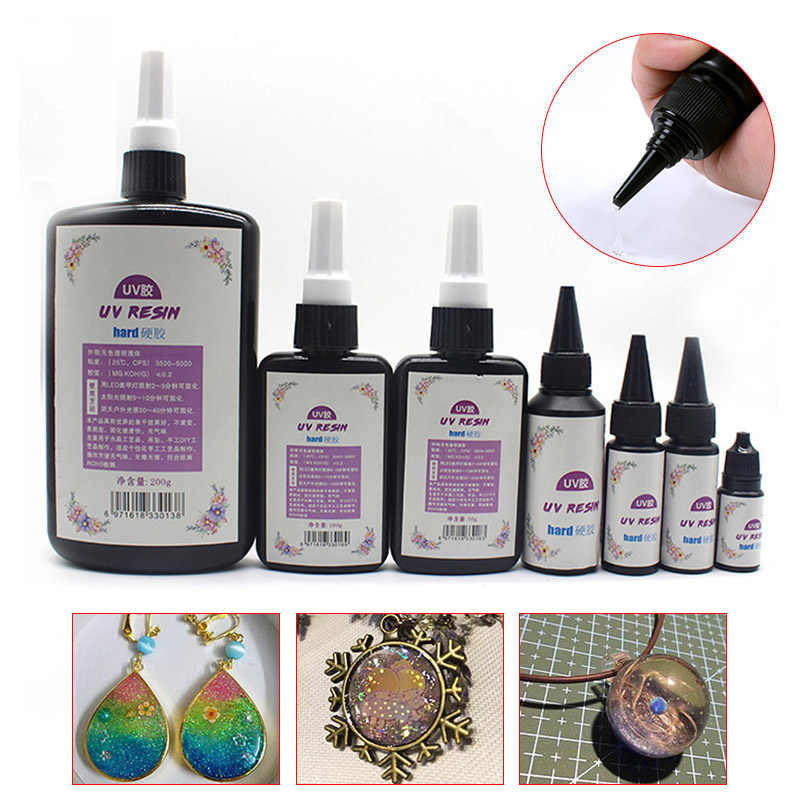 20g DIY UV Ultraviolet Resin Curing Solution Quick-drying Non-toxic Sunlight Activated Hard JDH99