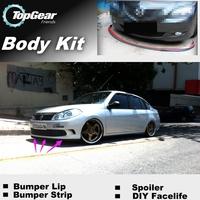 Bumper Lip Deflector Lips For Renault Symbol / Thalia / Citius Front Spoiler Skirt For TopGear Friends Tuning / Body Kit / Strip