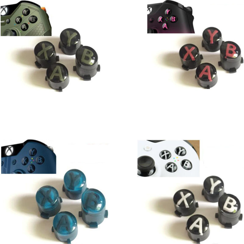 10 Colors Mod Kit For Xbox One Slim Elite Controller ABXY button Kit Bullet Buttons Repair Parts Replacement 3cleader® metal thumbsticks thumbgrips and bullet abxy