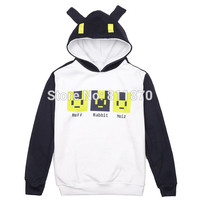 Cosplay Dramatical Murder DMMD Noiz Costume Unisex Cartoon Logo Hoodie Casual Coat Hooded Tops Sweatershirt Jacket