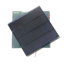 BUHESHUI 4.5W 6V Solar Panel With Cable 15CM Monocrystalline Solar Cell DIY Solar Charger Education Kits 165*165*3MM 100PCS/Lot