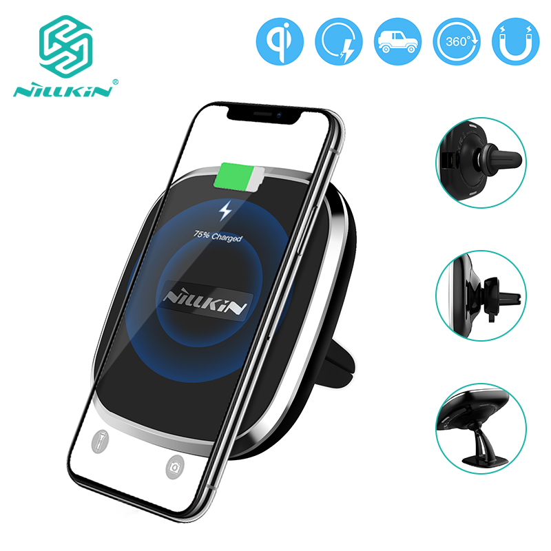 Wireless Car Charger, NILLKIN Magnetic Charger Qi Pad for Samsung Galaxy S10/S10 Plus For iPhone X