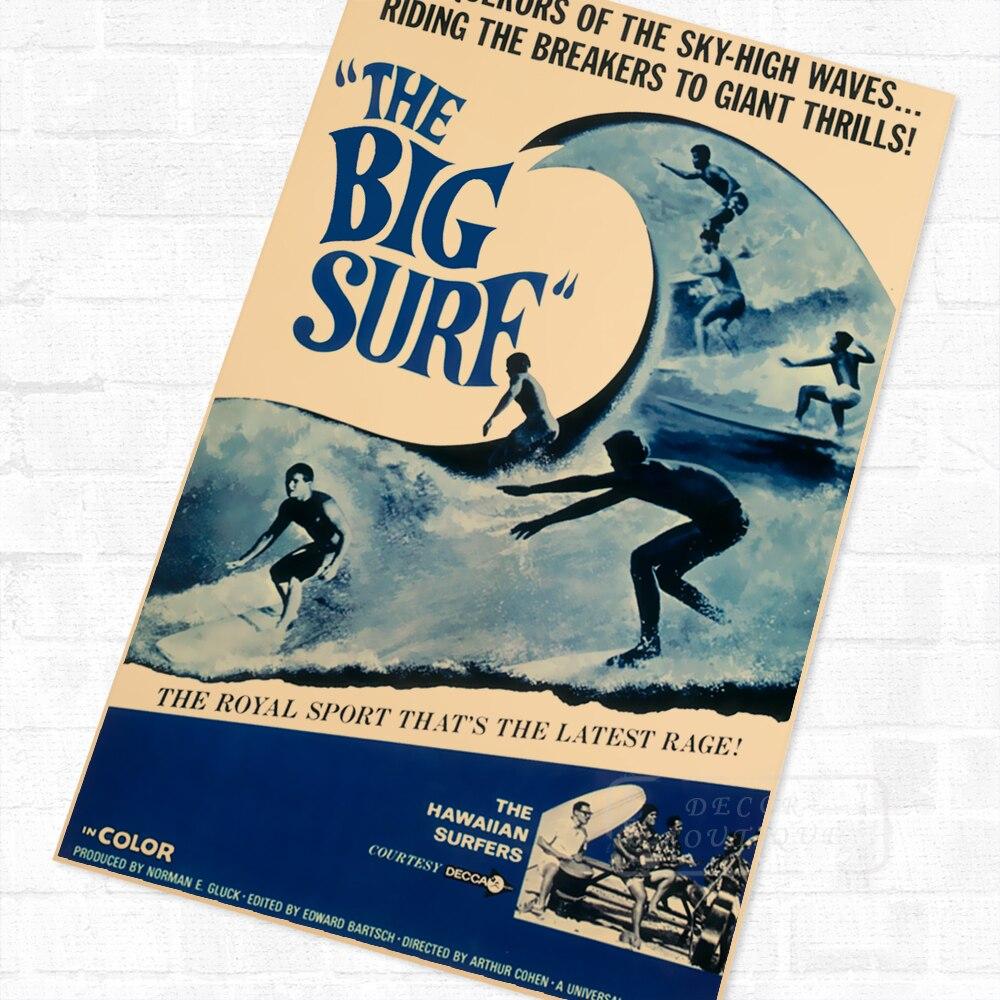 Royal Sport The Big Surf Vintage Travel Surf Beach Poster