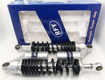 New 350mm 360mm 8mm spring shock absorber motorcycle air impact device for Yamaha suzuki kawasaki Honda CB750 Black and silver