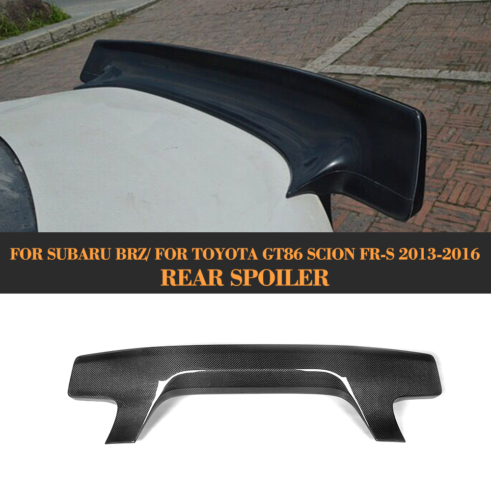 carbon fiber rear trunk lip spoiler wing for Subaru BRZ for Toyota GT86 Scion FR S 2013 2016 Rocket style Car Cover
