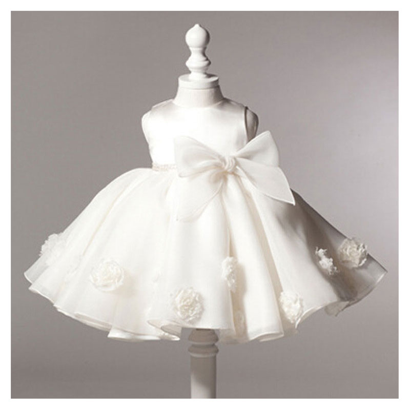 bd048d30a435 Detail Feedback Questions about Hot Sale White Dresses For Baptism  Christening Gown Lace 3D Rose Baby Girl Birthday Princess Dress Newborn  Party Tutu Dress ...