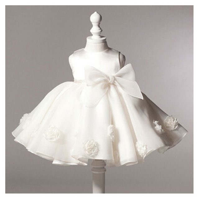 4cc875e18989 Hot Sale White Dresses For Baptism Christening Gown Lace 3D Rose ...