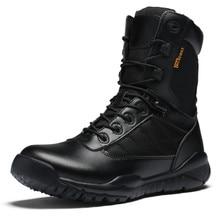 Kerzer Новинка 2017 года Мужские горные ботинки кожа Открытый Прогулочные кроссовки черные армейские ботинки для мужчин дышащие охотничьи сапоги бренд
