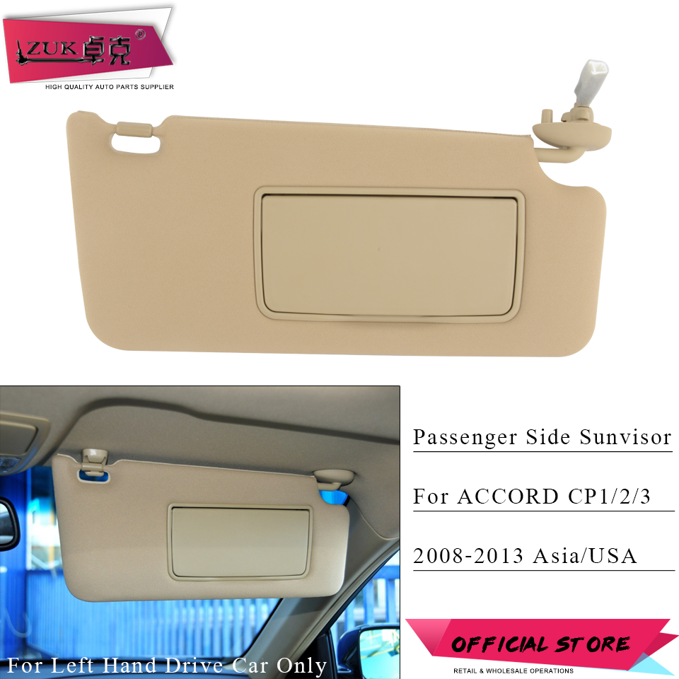 ZUK Passenger Side Sunvisor Sunshade Sun Shield Antidazzle Visor For HONDA ACCORD 2008 2009 2010 2011