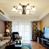 Европейский гостиная потолочный светильник светодиодный Ресторан фонарь Творческий Ретро антикварной люстры спальня светильник ретро св