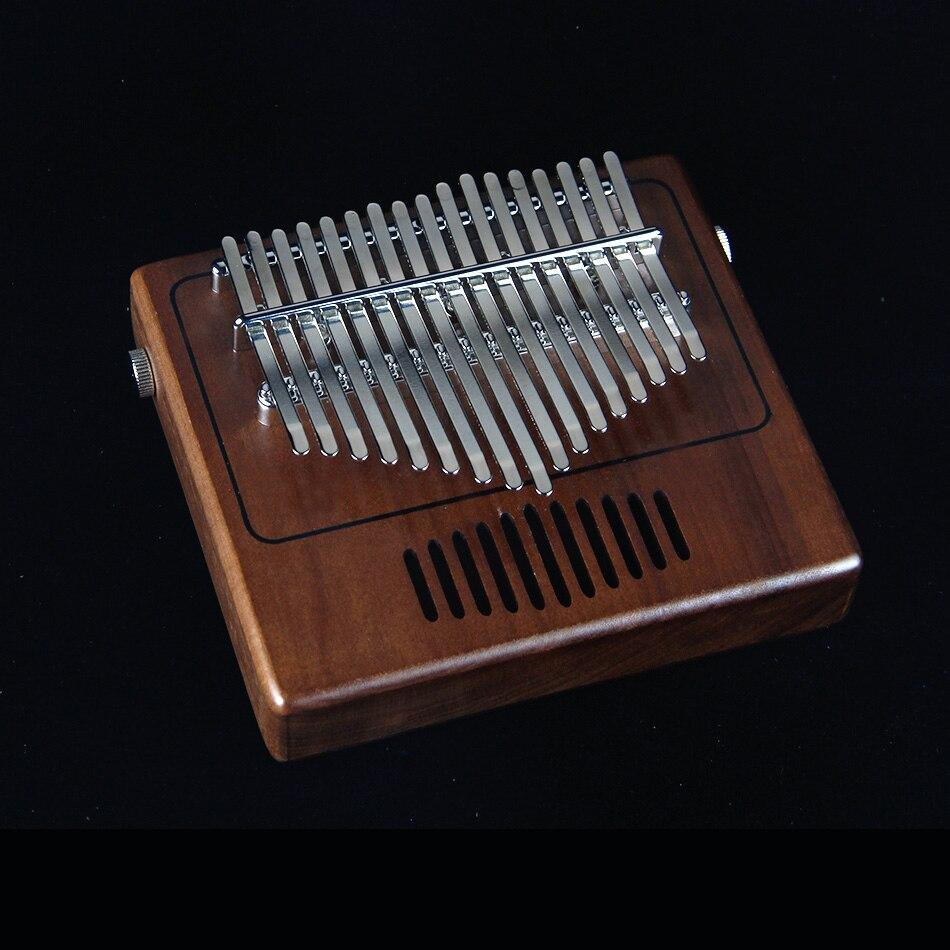 MUKU planche unique rétro Radio modélisation Kalimba pouce Piano17 sons en bois Portable doigt Piano noyer