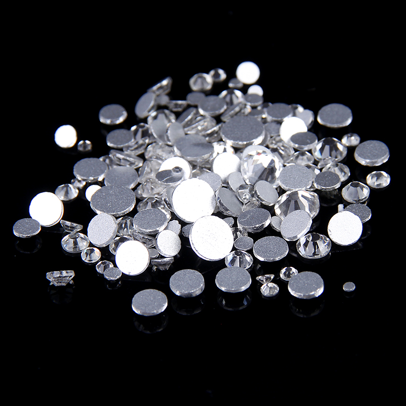 Non Hotfix Crystal Rhinestones For Nail Art Decoration 1440pcs ss3 1.3-1.5mm Crystal Clear Color Round Strass Stones Diy Garment super shiny 5000p ss16 4mm crystal clear ab non hotfix rhinestones for 3d nail art decoration flatback rhinestones diy