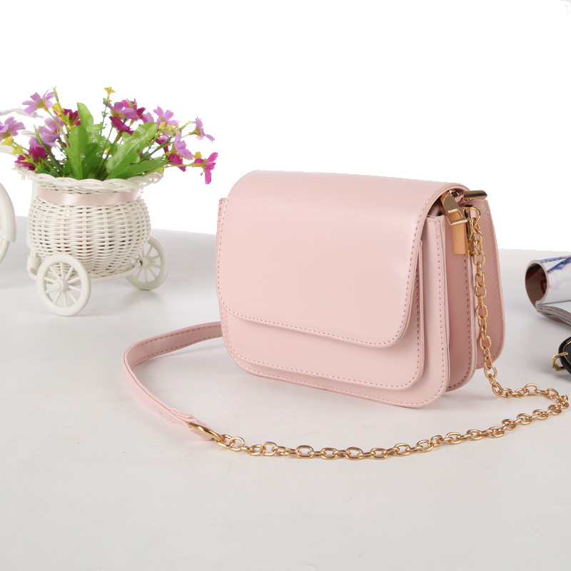 2018 European and American fashion small square bag multilayer women's handbags shoulder bag with chain crossbody bags for girls 1