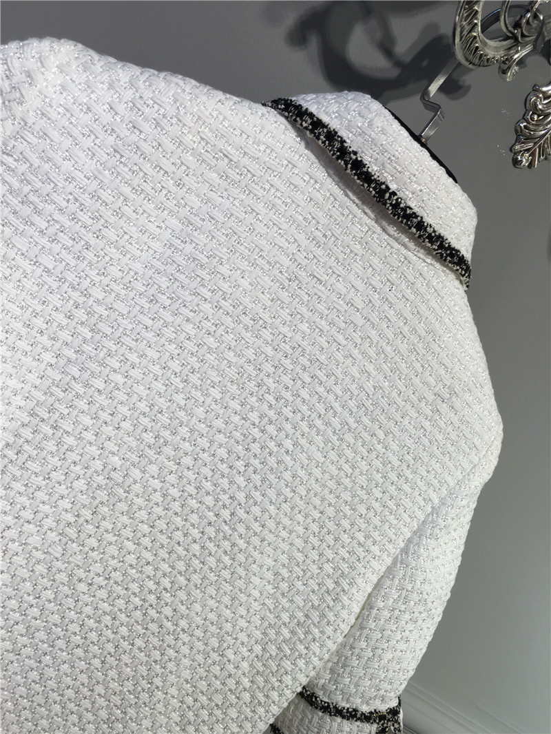 women elegant office dress,custom plus size xs-6xl,tweed winter dress,ladies vestidos de fiesta,tweed autumn White dress 8