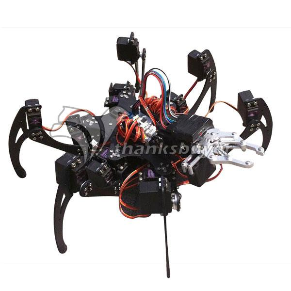 Smart Electronics Have An Inquiring Mind Assembled 20dof Aluminium Hexapod Robotic Spider Six Legs Robot With Claw & Ld-1501 Servos & Controller