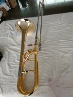 Copy of Schagerl trombone Hand hammered Bell Tenor Trombone Real gold plated with case professional Musical instruments