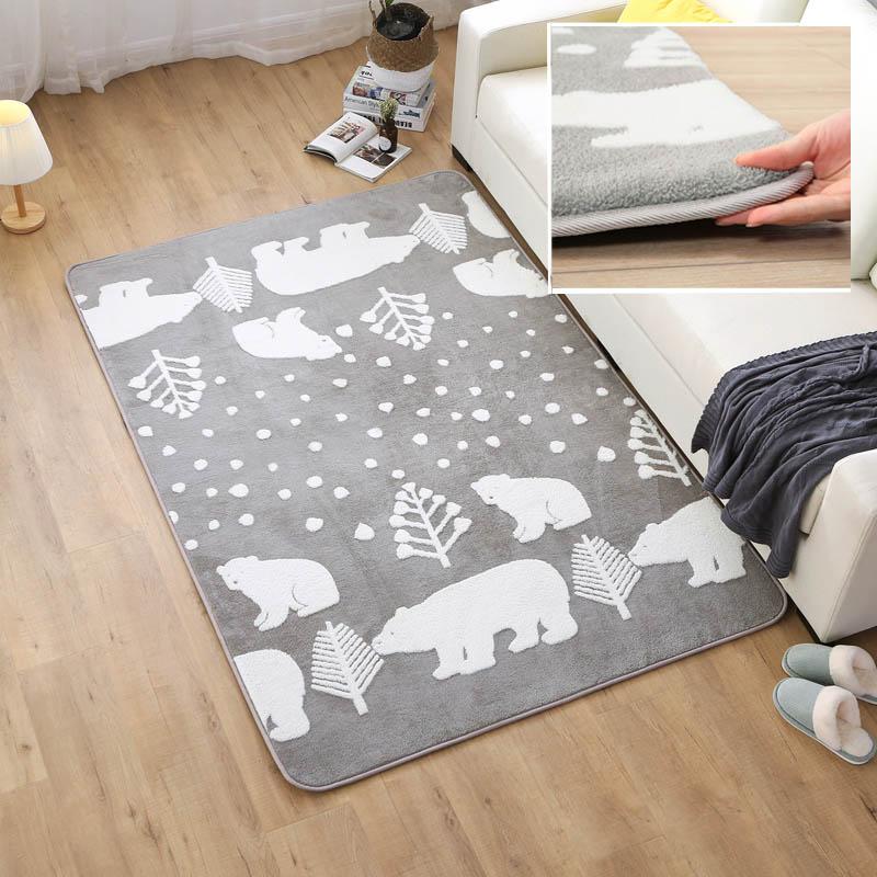 140 cm * 190 cm/190 cm * 240 cm australien en peluche Jacquard tapis pour salon canapé tapis enfants mignon tapis chevet Tatami tapis