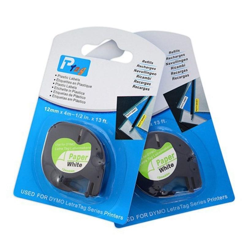 30 pk compativel dymo letratag lt 91200 s0721510 10697 cartucho de fita etiqueta de papel branco