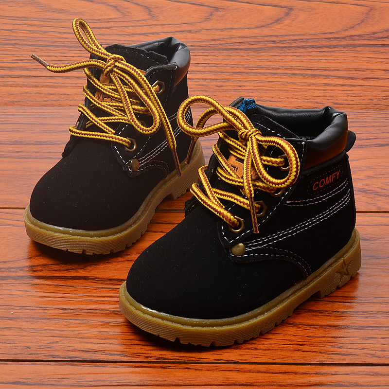 Winter Children\'S Boots Girls Boys Plush Martin Boots Casual Warm Ankle Shoes Kids Fashion Sneakers Baby Snow Boots