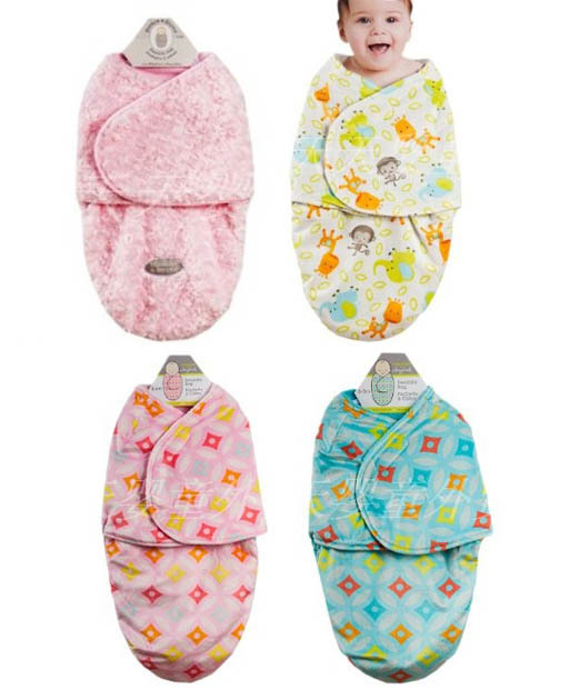 2pieces Lot Free Shipping Double Velvet Layer Blanket Newborn Bag