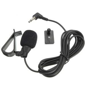 Image 3 - LEORY 3.5mm שקע תקע מיקרופון מונו מיני רכב אודיו מיקרופון נייד קליפ על דש Wired חיצוני מיקרופון עבור אוטומטי DVD רדיו