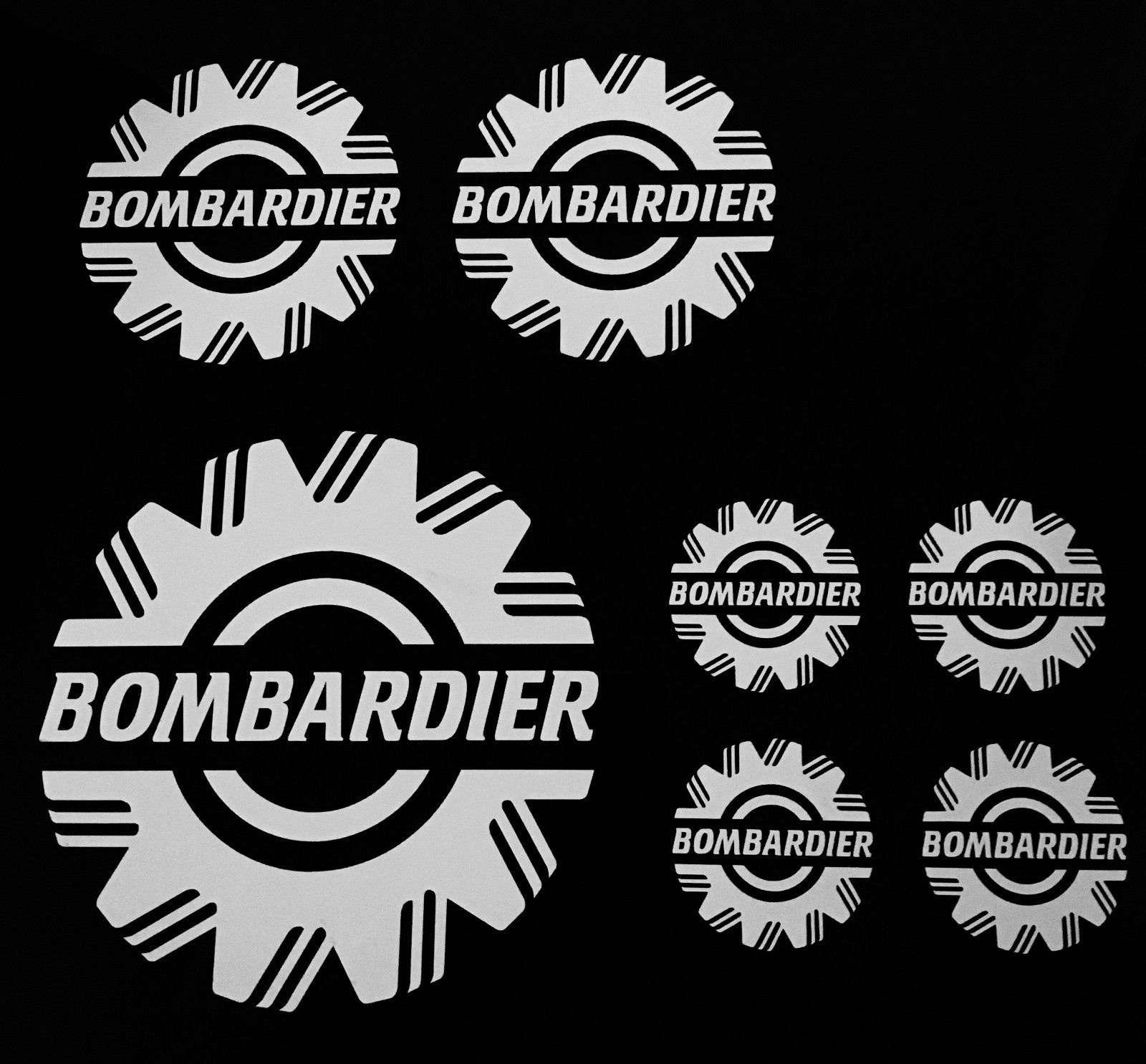 SkiDoo Stickers Vintage Set of 5..