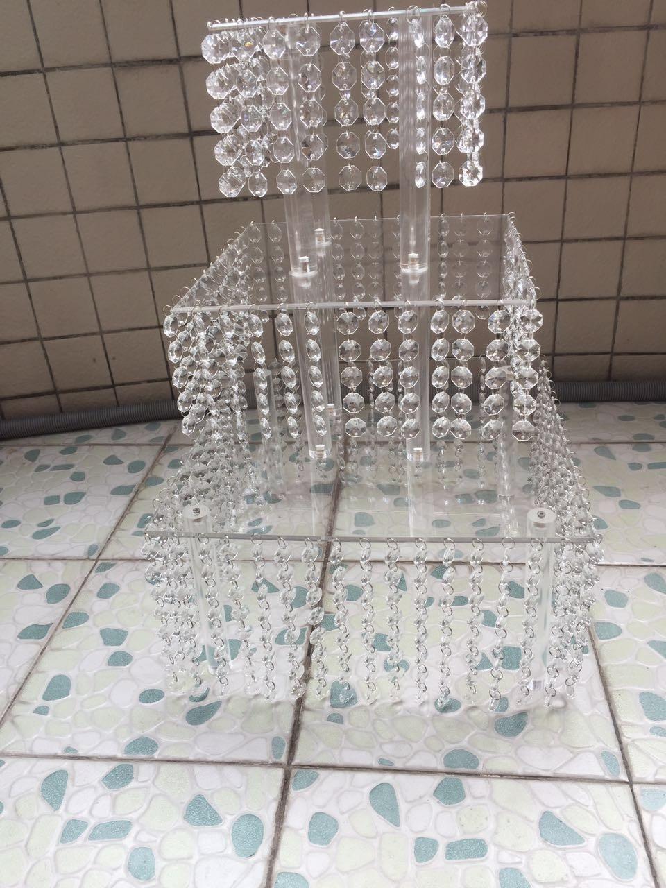 Mode kristall acryl hochzeit hoch tortenständer dessert tisch - Partyartikel und Dekoration - Foto 3