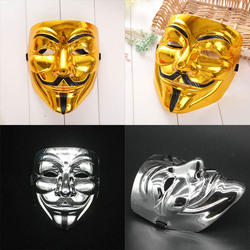 New creative gold silver v for vendetta mask anonymous halloween cosplay costumes party supplies hot sale.jpg 250x250