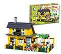Bloco compatível com Legoe 32051 DIY brinquedos educativos WANGE Villa casa 449 PCS reúne partículas bloco brinquedos
