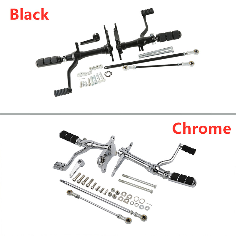 Motorcycle Forward Controls Complete Foot Pegs Foot Rests Levers Linkages For Harley Sportster XL883 1200 1991-2003