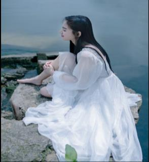 Girls Fairy Chiffon Dress Womens White Dresses Long Lantern Sleeve Fantasy Princess Maxi Elegant Mori Floor Length Dress Z860