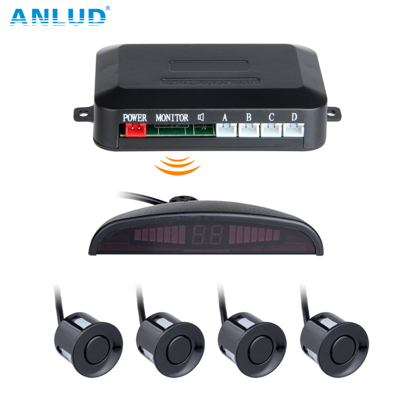 ANLUD Wireless LED Display Parking Sensor Kit 3 Sensors Auto Car Reverse Assistance Backup Radar Monitor System Reversing Radar truck lorry backup sensor warning alarm reversing radar aid system 4pcs parking ultrasonic sensor with led display