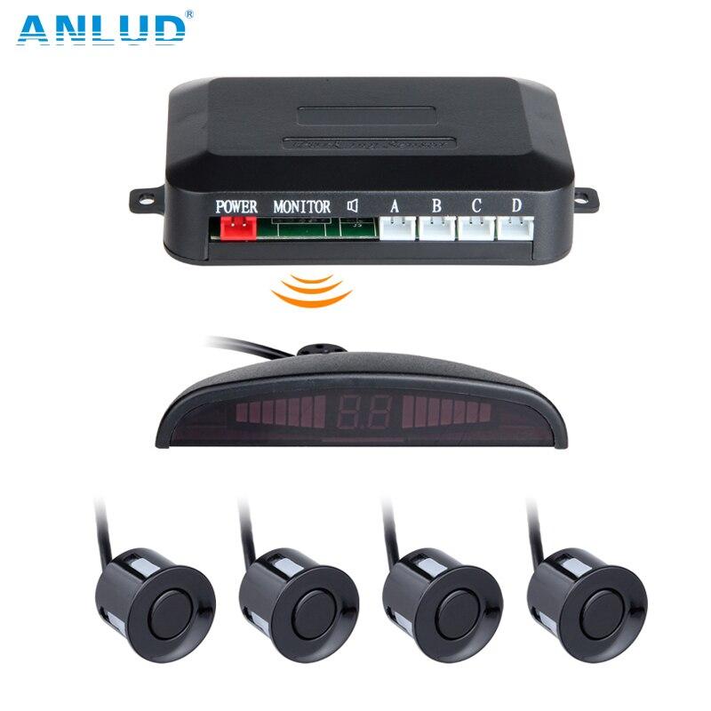 ANLUD Wireless LED Display Parking Sensor Kit 3 Sensors Auto Car Reverse Assistance Backup Radar Monitor System Reversing Radar