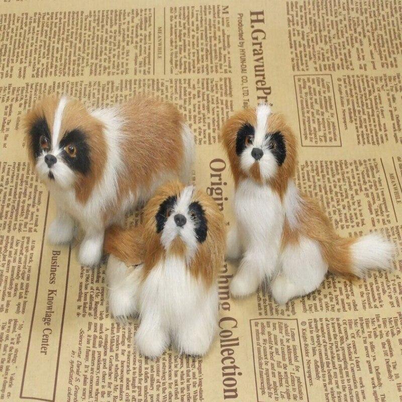 ✓3 unidades un conjunto simulación St. Bernard perros polietileno y ...
