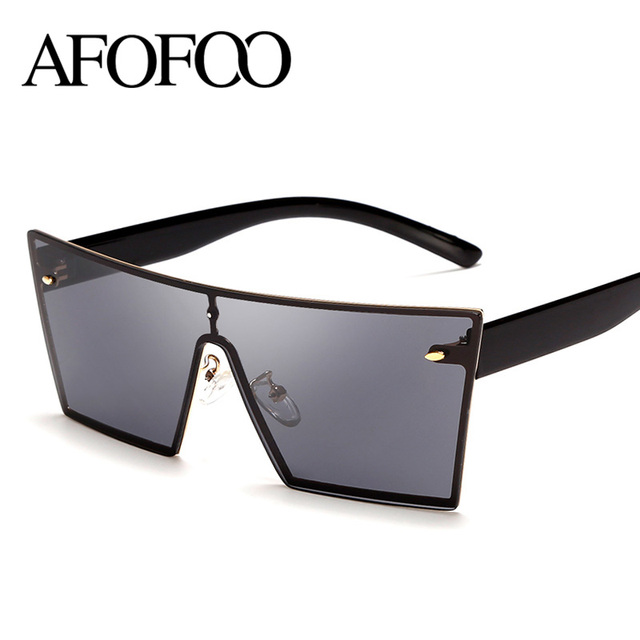 de9b3650bb2c Afofoo Новая мода Солнцезащитные очки для женщин квадратный сиамские  зрелище линзы известный бренд Дизайн без оправы