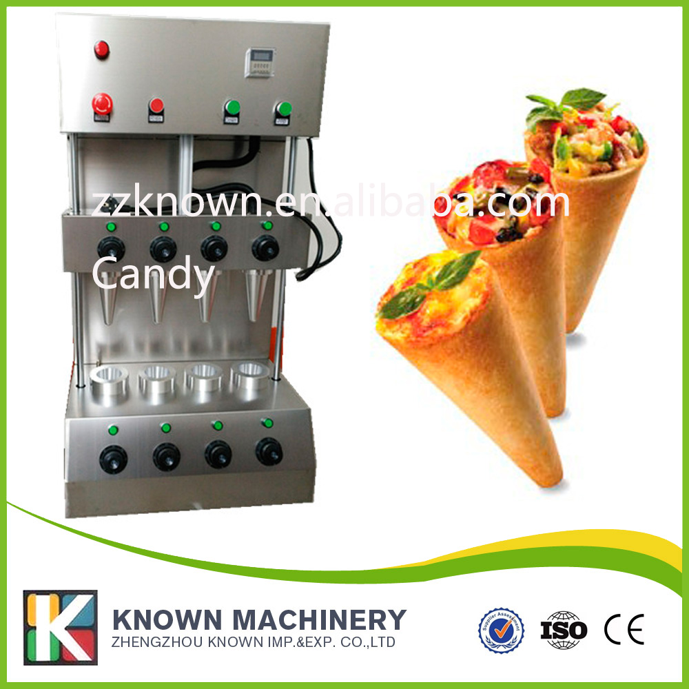 smaller cone size 13*6*0.3cm pizza cone maker machine stainless steel pizza machine with 4 cones pizza group entry max 6