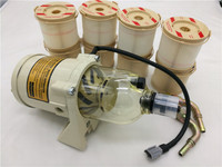 ONE 500FG ASSEMBLY FUEL WATER SEPARATOR WITH HEATER 8 PCS 2010PM 30 MICRON FOR RACOR FREE