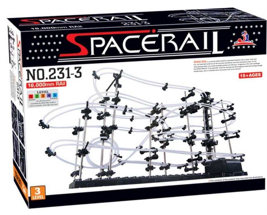 New Space Rail Funny Model Building Kit RollerCoaster Toys SpaceRail Level 3, DIY Spacewarp Erector Set 16000mm
