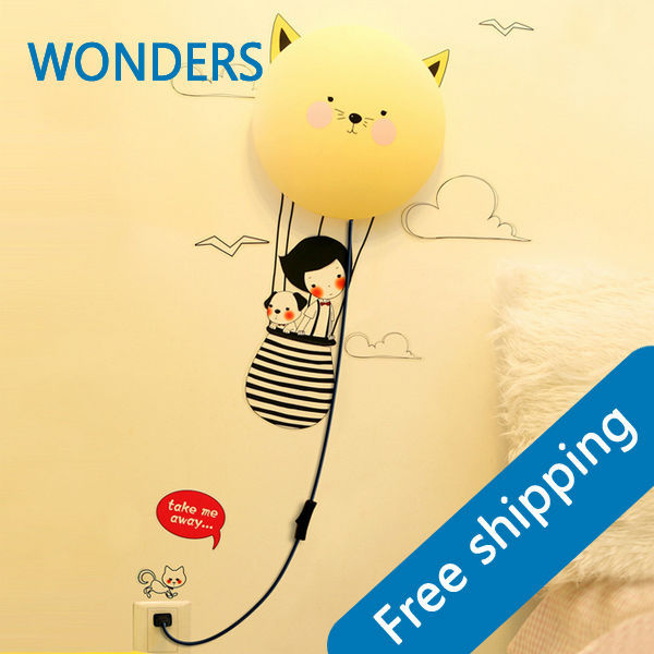 25W wall sticker LED night light kid gift 3D wall lamp 220V cartoon baby DIY Wall pape decoration night light novel birds led night light wall night desk lamp with sticker page 9