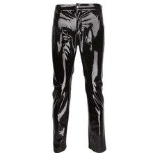 Модное сексуальное мужское белье из блестящей лакированной кожи ПВХ обтягивающие штаны леггинсы для клубной одежды Новинка