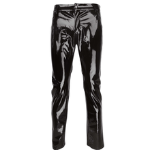 CFYH Sexy Mens Lingerie Shiny Patent PVC Leather Tight Pants Leggings For Clubwear