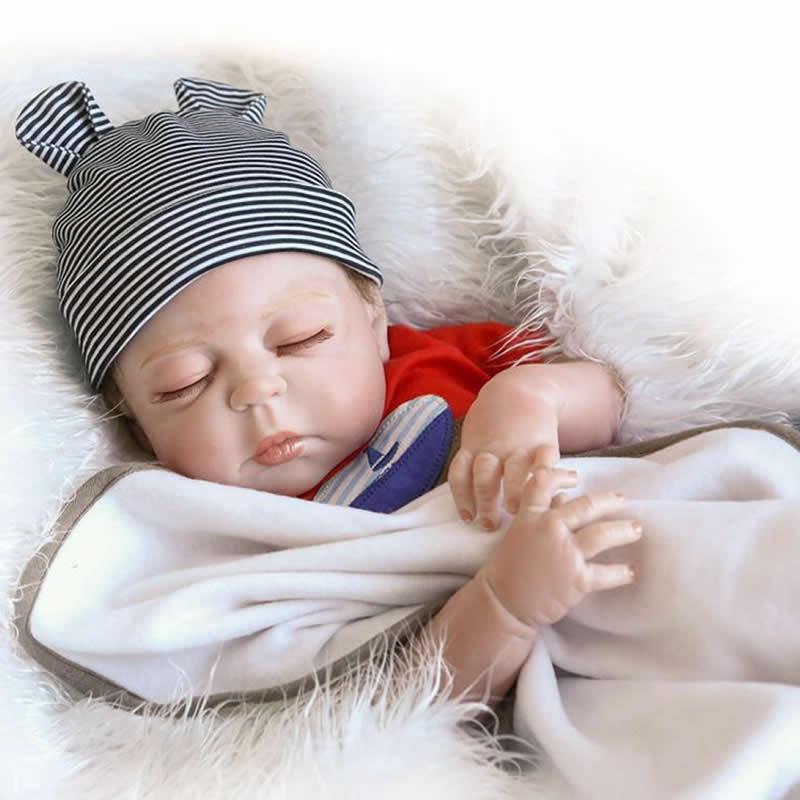 Npkcollection 23 inch / 57 cm realistis reborn bayi penuh silikon - Boneka dan aksesoris - Foto 5