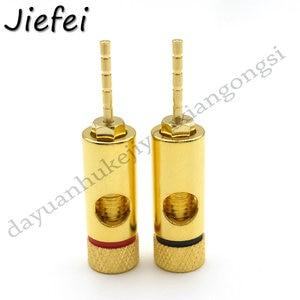4-100 Uds nuevo cobre de alta calidad 2mm Banana Plug terminales chapado en oro Amp cableado Pin Plug Adapter Hifi Speaker connector