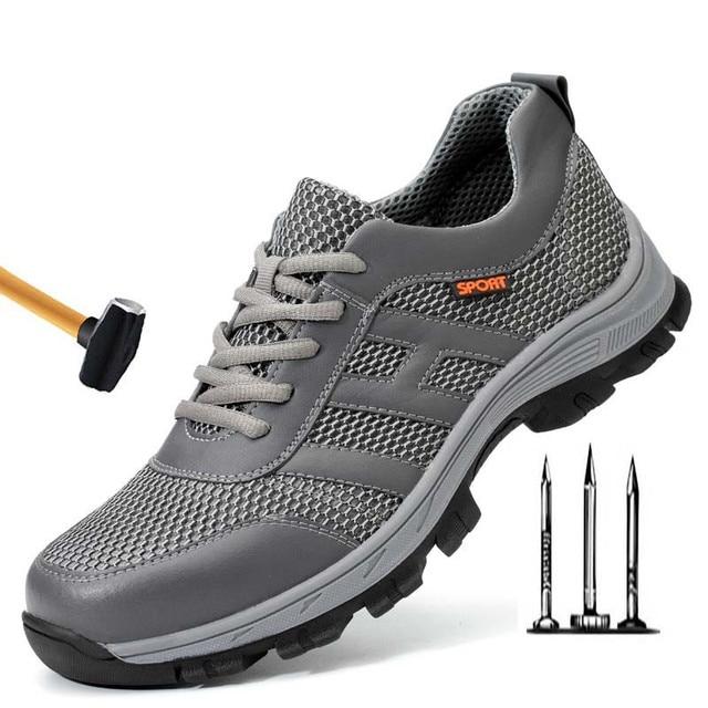 Acero Para De Hombre Ligeros Los Transpirables Hombres Seguridad Verano Botas Zapatos Punta Trabajo y6vYgfb7